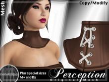 *Perception* Neck Corset -- Brown Leather