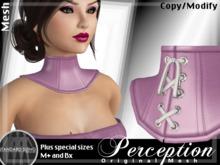 *Perception* Neck Corset -- Pink Leather
