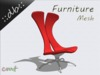 ::db furniture:: Red Swivel Chair