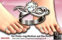 ((Crystal Line))ToePinkie Ring(Medium and Flat Feet)-(wear)