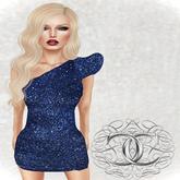 [Cavalieri]- Glitter Dress- Blue