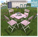 what next} Garden Cafe Table & Chairs Pink