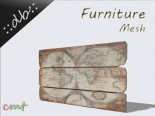 ::db furniture:: Wooden plate Map of the World