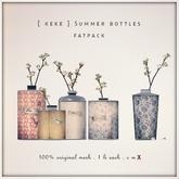 [ keke ] summer bottles w flowers - fatpack (mesh)