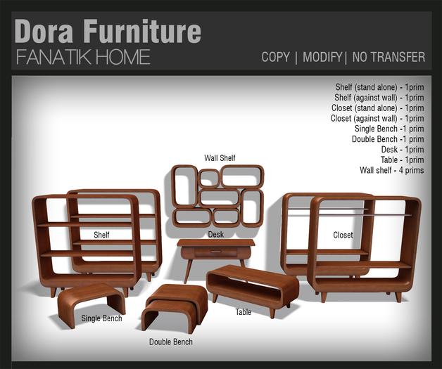 :FANATIK HOME: Dora Furniture Set  - mesh fashion store furniture set