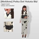 [MotiAme] Polka Dot Yukata BW