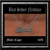 Brat Silver Necklace