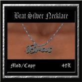 Tart Silver Necklace Pk