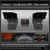 [ kunst ] - Fog machine system - FM MK1 - Floor version
