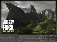:NEW: Jaggy Rock Building Set - 100% MESH