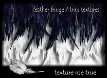 feather trims, fringe texture pack
