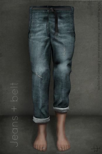 [Deadwool] Jeans + belt (blue)