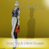 Loovus Dzevavor: Erraza Top & Editor's Trousers