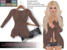 [L] Hulda cardigan and shorts outfit