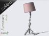 ::db furniture:: Decorative Floor Lamp Rose stripes