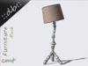 ::db furniture:: Decorative designer Floor Lamp Rose pattern