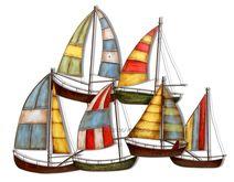 Sailboat Fleet Wall Art