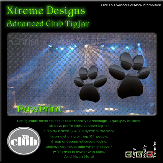 Copyable % Splitting Club Login TipJars - PawPrint -