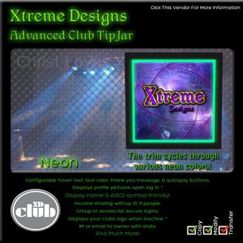 Copyable % Splitting Club Login TipJars - Mesh Neon -