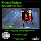 Copyable % Splitting Club Login TipJars - Canvas Easel -