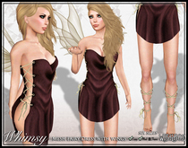 [Wishbox] Whimsy (Cocoa) - Mesh Fairy Dress, Wings, and Legwraps Costume