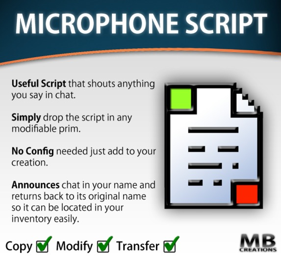 Microphone Script - (shouts owner chat)