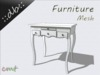 ::db furniture:: White antique dressing table