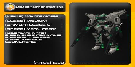 MCM White Noise (Reborn) *BOXED*