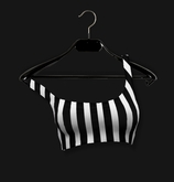 .R:R. The Caprice Crop Top - Black and White Stripes