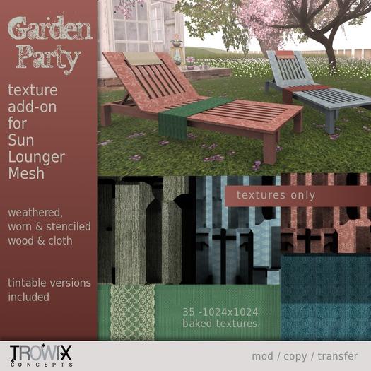 Trowix - Garden Party Sun Lounger Texture Addon