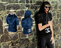 CREDO  Blue_Leather_Hoodie