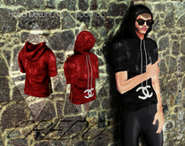 CREDO  Red_Leather_Hoodie