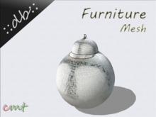 ::db furniture:: Decorative Round silver jar