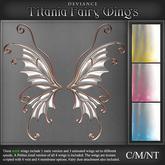 Deviance - Titania Mesh Fairy Wings - Snowdrop