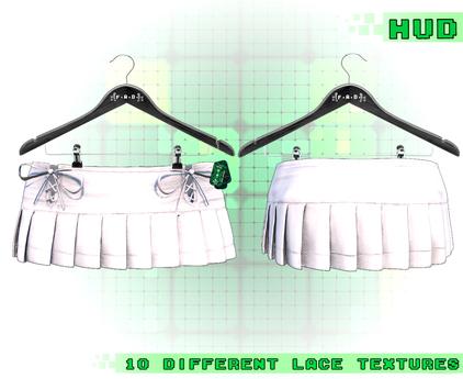 :{F.A.D.}: Poppi Pleated Skirt White