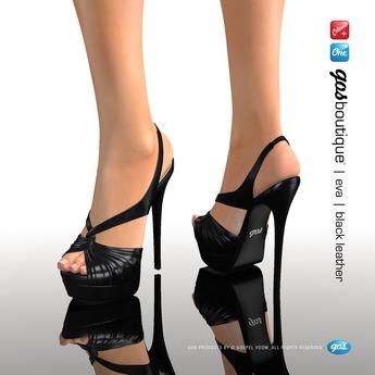 [Gos] Boutique - Eva Slingback - Black Leather