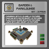 EMU *SUPER PROMO*  Garden and Parklounge with 20 Animations, Fontain, light and Parkbench