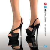 [Gos] Boutique - Eva Slingback - Black Satin