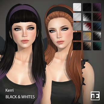 TRUTH HAIR Kerri (Mesh Hair) - black & whites
