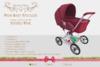 Prim baby stroller ad stripedpink