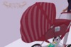 Prim baby stroller ad stripedpink 2