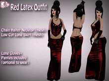 N1CO Red Latex Outfit (mesh) bagged