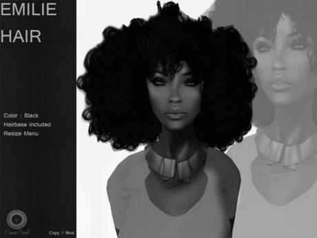 DEMO E M I L I E Hair Dark  - By Naomie Dirval