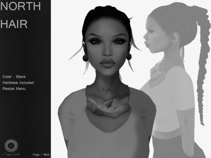 DEMO N O R T H  Hair Dark  - By Naomie Dirval
