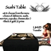 Sushi Table - black & gold