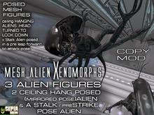 Mesh ALIEN XENOMORPH FIGURES:CEILING CRAWL(HANG)& Stalk MESH FIGURES MOD&COPY