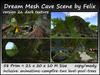 Dream Mesh Cave Scene (vers. 2a) 58 Prim=21x20x10m Size c/m