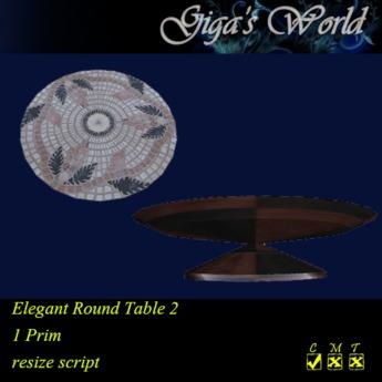 *GW* Elegant Round Table - Grapes 2
