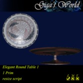 *GW* Elegant Round Table - Grapes 1