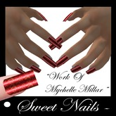 Long Nails 07 Colorful Sweet Hearts Collection